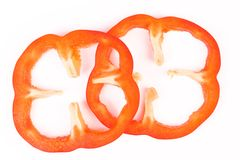 Sweet peppers sliced in pieces Stock Photography
