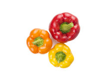 Sweet peppers on white background Stock Image