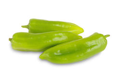 Sweet peppers on white Royalty Free Stock Photos