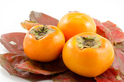 Sweet persimmons Royalty Free Stock Photos