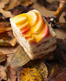 Sweet pie with apples Royalty Free Stock Images