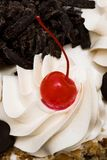 Sweet pie with cherries Royalty Free Stock Images