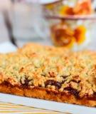 Sweet pie pastry with apple jam Stock Image