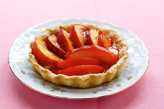 Sweet Pie with peach Royalty Free Stock Images