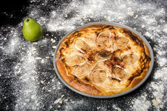 Sweet pie with pear Stock Photo