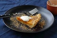 Sweet pie with pumpkin and walnut Stock Photo