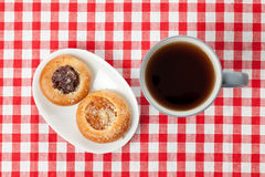 Sweet pie and tea Stock Photography