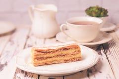 Sweet piece of Napoleon cake Royalty Free Stock Photo