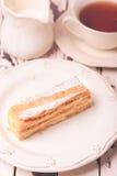 Sweet piece of Napoleon cake Stock Photo