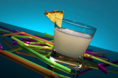 White drink - Pina colada Stock Photo
