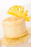 A sweet pineapple cake isolated over white background Stock Photography