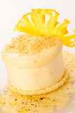 A sweet pineapple cake isolated over white background Royalty Free Stock Photos