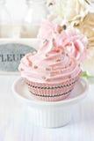 Pink cupcake. Royalty Free Stock Image
