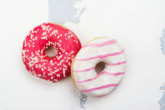 Sweet pink donuts Stock Image