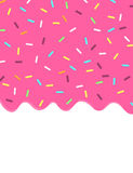 Sweet pink glaze and sprinkles background banner Royalty Free Stock Photography