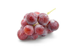 Sweet pink grapes isolated on white background Stock Photo