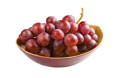 Sweet pink grapes isolated on white background Royalty Free Stock Image