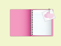 Sweet  pink notebook Stock Photo