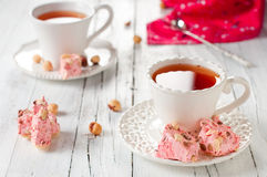 Sweet pink nougat Stock Photography