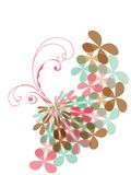 Sweet pink pastel clover swirl Stock Photo
