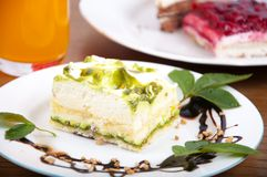 Sweet pistachio dessert Stock Photography