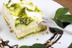 Sweet pistachio dessertlla cream and nuts Royalty Free Stock Photo