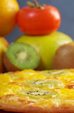 Sweet pizza with fruit Royalty Free Stock Photo