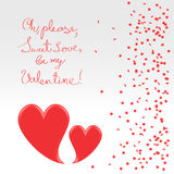 Sweet plea of valentine Stock Images