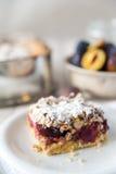 Sweet plum cake Stock Photos