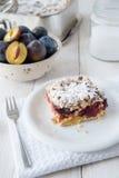 Sweet plum cake Stock Image