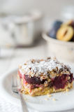 Sweet plum cake Royalty Free Stock Photo