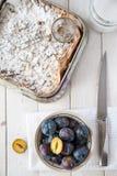 Sweet plum cake Stock Photo