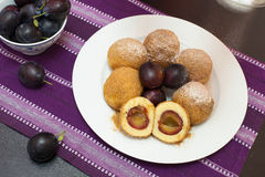 Sweet plum dumplings Royalty Free Stock Photography