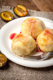 Sweet plum dumplings. Royalty Free Stock Image