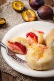 Sweet plum dumplings. Royalty Free Stock Photos