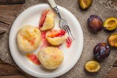 Sweet plum dumplings. Royalty Free Stock Photography