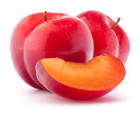 Sweet plum isolated on white background cutout Stock Photos