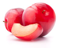 Sweet plum isolated on white background cutout Royalty Free Stock Images