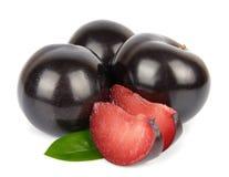 Sweet plums fruit Stock Photos