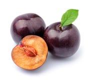 Sweet plums fruits Stock Photos