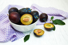 Sweet plums Stock Images