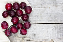 Sweet plums. On wooden background Stock Photography