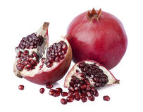 Sweet pomegranate. Pomegranate seeds on white table outlets stock images
