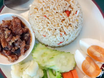 Sweet pork condiment. And rice , thai food Stock Photography