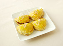 Sweet pork paff pastry. Chinese cuisine. yumcha, chinese food Royalty Free Stock Image