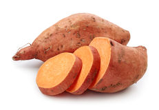 Sweet potato. Isolated on white background Royalty Free Stock Photos