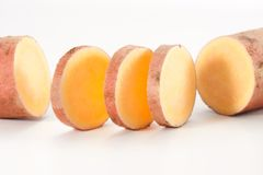 Sweet potato. Isolated on white background royalty free stock photography