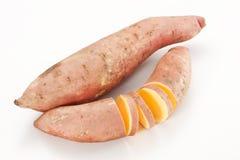 Sweet potato. Isolated on white background Stock Photography