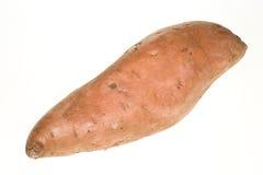 Sweet Potato. Single sweet potato isolated on white Stock Photos