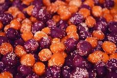 Sweet potato balls Stock Photos